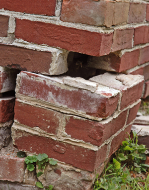 Crumbling Brick Foundation